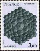 timbre N° 1924, Vasarely «Hommage à l'exagone»