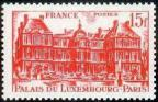 timbre N° 804, Palais du Luxembourg 15 F rouge
