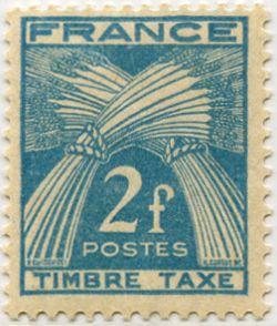 timbre taxe type gerbes timbre mis en 1946 1955 dessin par p gandon et grav par henri cortot. Black Bedroom Furniture Sets. Home Design Ideas