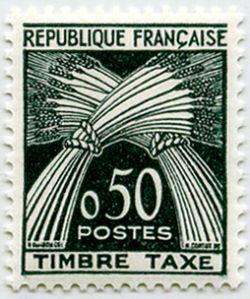 timbre taxe timbre fran ais taxe n 93 de couleur vert fonc mis en 1960. Black Bedroom Furniture Sets. Home Design Ideas