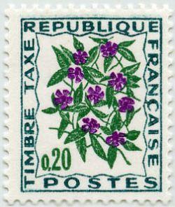 timbre taxe timbres de france mis en 1964 1971. Black Bedroom Furniture Sets. Home Design Ideas