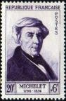 timbre N° 949, Jules Michelet (1798-1874) historien